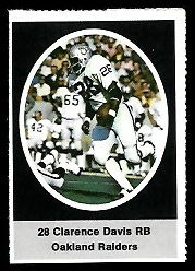 Clarence Davis 1972 Sunoco Stamps football card