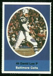 David Lee 1972 Sunoco Stamps football card