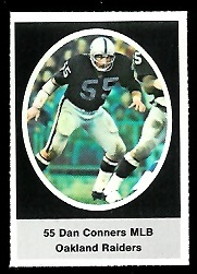 Dan Conners 1972 Sunoco Stamps football card