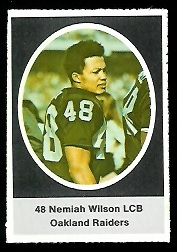 Nemiah Wilson 1972 Sunoco Stamps football card