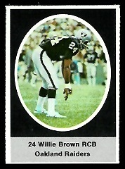Willie Brown 1972 Sunoco Stamps football card