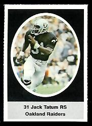 Jack Tatum 1972 Sunoco Stamps football card