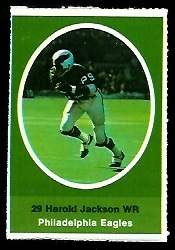 Harold Jackson 1972 Sunoco Stamps football card