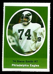 Steve Smith 1972 Sunoco Stamps football card