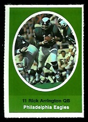 Rick Arrington 1972 Sunoco Stamps football card