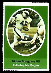 Lee Bouggess 1972 Sunoco Stamps football card