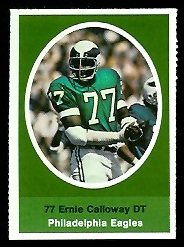 Ernie Calloway 1972 Sunoco Stamps football card