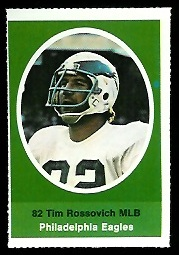 Tim Rossovich 1972 Sunoco Stamps football card
