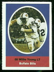 Willie Young 1972 Sunoco Stamps football card