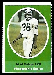 Al Nelson 1972 Sunoco Stamps football card
