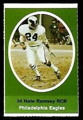 Nate Ramsey 1972 Sunoco Stamps football card