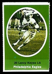 Leroy Keyes 1972 Sunoco Stamps football card