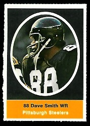 Dave Smith 1972 Sunoco Stamps football card