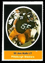 Jon Kolb 1972 Sunoco Stamps football card