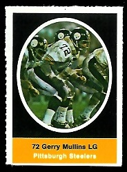 Gerry Mullins 1972 Sunoco Stamps football card