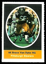 Bruce Van Dyke 1972 Sunoco Stamps football card