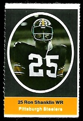 Ron Shanklin 1972 Sunoco Stamps football card