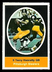 Terry Hanratty 1972 Sunoco Stamps football card