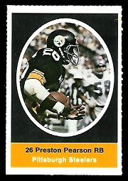 Preston Pearson 1972 Sunoco Stamps football card