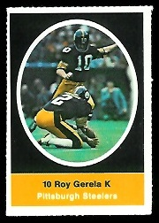 Roy Gerela 1972 Sunoco Stamps football card