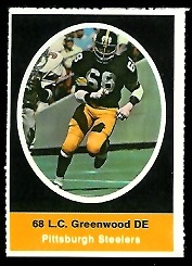 L.C. Greenwood 1972 Sunoco Stamps football card