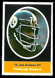 Joe Greene 1972 Sunoco Stamps football card