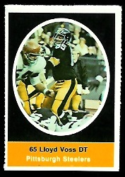 Lloyd Voss 1972 Sunoco Stamps football card