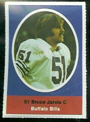 Bruce Jarvis 1972 Sunoco Stamps football card