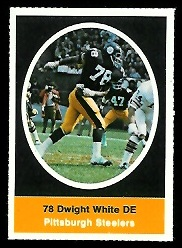 Dwight White 1972 Sunoco Stamps football card