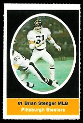 Brian Stenger 1972 Sunoco Stamps football card