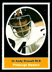Andy Russell 1972 Sunoco Stamps football card