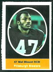 Mel Blount 1972 Sunoco Stamps football card