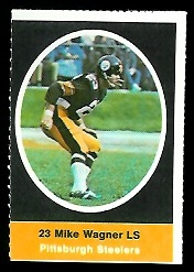 Mike Wagner 1972 Sunoco Stamps football card