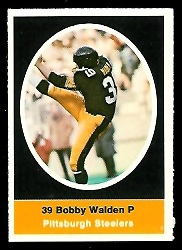 Bobby Walden 1972 Sunoco Stamps football card