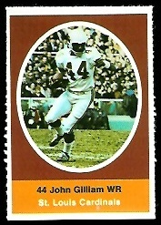 John Gilliam 1972 Sunoco Stamps football card