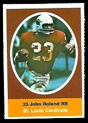 Johnny Roland 1972 Sunoco Stamps football card
