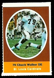 Chuck Walker 1972 Sunoco Stamps football card