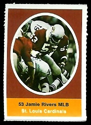 Jamie Rivers 1972 Sunoco Stamps football card