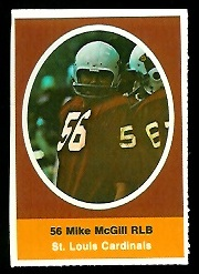 Mike McGill 1972 Sunoco Stamps football card