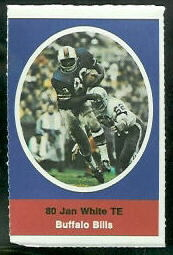 Jan White 1972 Sunoco Stamps football card