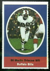 Marlin Briscoe 1972 Sunoco Stamps football card
