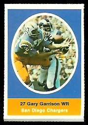 Gary Garrison 1972 Sunoco Stamps football card