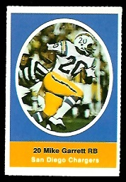 Mike Garrett 1972 Sunoco Stamps football card