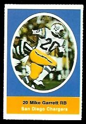 Mike Garrett 1972 Sunoco Stamps football card