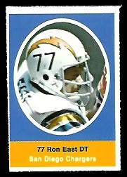 Ron East 1972 Sunoco Stamps football card
