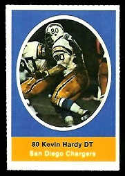 Kevin Hardy 1972 Sunoco Stamps football card