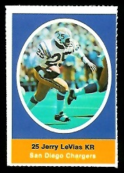 Jerry Levias 1972 Sunoco Stamps football card