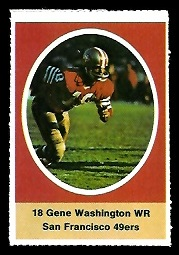 Gene Washington 1972 Sunoco Stamps football card
