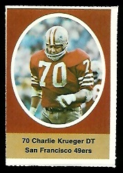 Charlie Krueger 1972 Sunoco Stamps football card