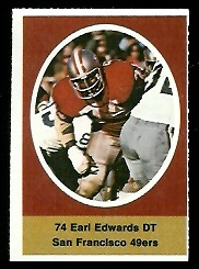 Earl Edwards 1972 Sunoco Stamps football card